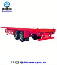 2017 Factory Price Tri-axle 60 Ton 40ft Container Flatbed Truck Trailer / Container Semi-trailer With Twist Lock
