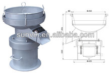 industrial sieve shaker, vibrating wet screen sieve, round vibrating screen filter,Noiseless screen filter XY-450