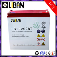 12V 28Ah Electric Scooter Lead Acid Battery