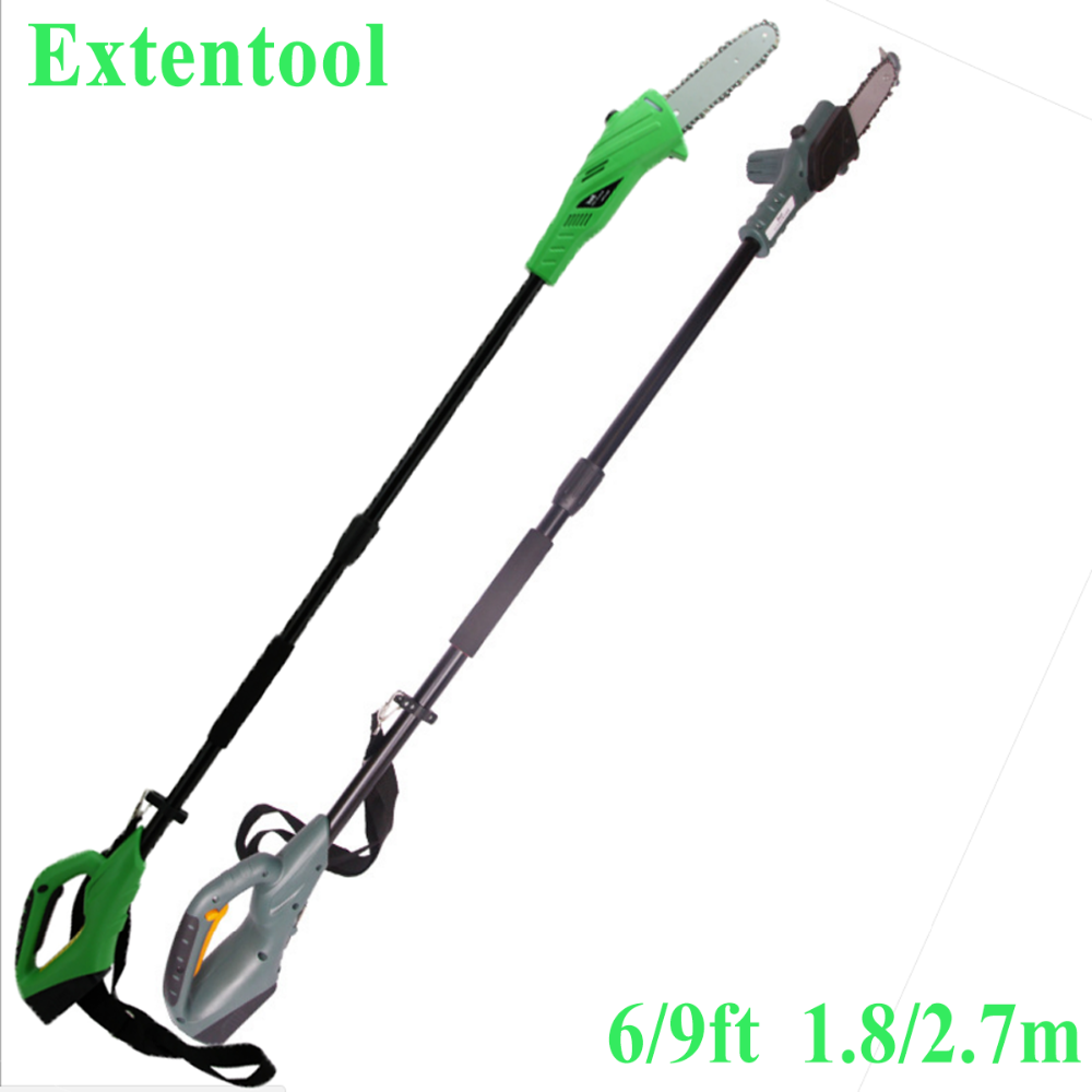 9ft electric pole saw with long reach 2.7m pruner shear for pruning in garden tools
