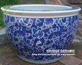 Big size chinese blue and white ceramic tree planters pots for wholesale