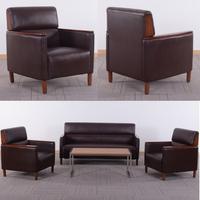 HL-8056b new design manager sofa antique design walnut style office sofa