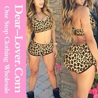summer beautiful hot sexy Leopard Print women bathing suits in 2015