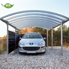 outdoor rain shelter polycarbonate roofing 2 car aluminum carport