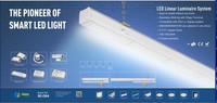 LED Trunking System linkable industrial light 36w ledlight linear high bay light