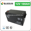 Bluesun agm battery lifepo4 12v 100ah solar storage battery pack with ISO CE ROHS UL Certificate