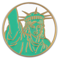 Statue of Liberty Patriotic New York 1'' Lapel Pin