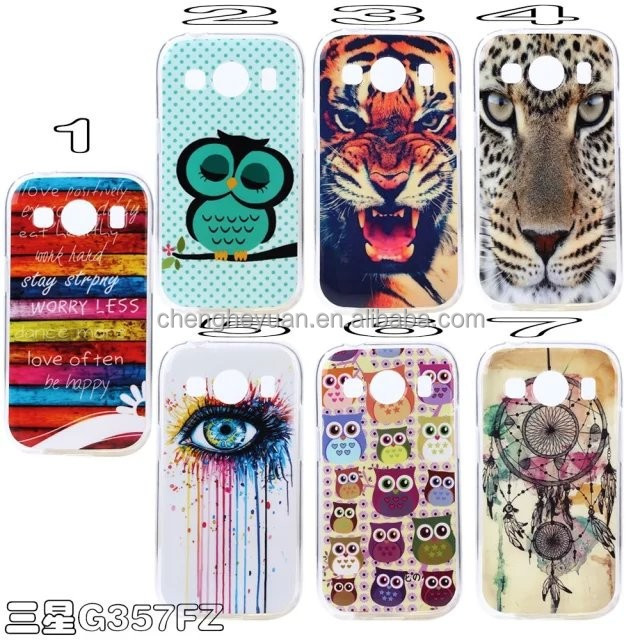 2015 new products cartoon printing imd silicone soft phone case for samsung g357fz