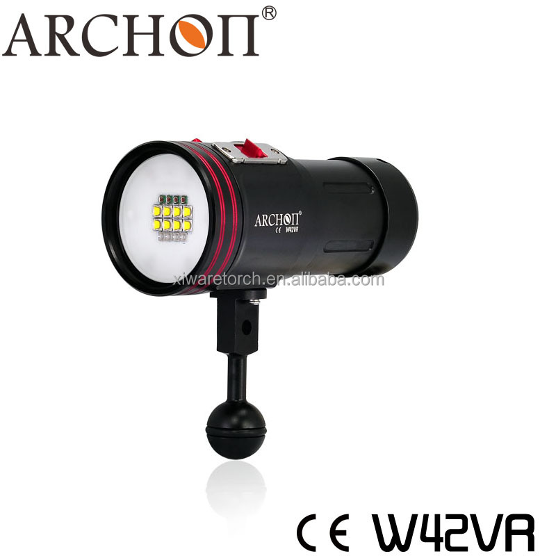 4 Colors Diving Video Flashlight Torches , LED Diving Flashlight ARCHON W42VR (CE&RoHS)