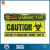 Yellow Halloween Fright Tape, Zombie Crossing and Do Not Enter--2 Design Pack
