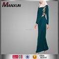 High Quality Muslim Dress Islamic Clothing Women Applique Long Dress Fashion Moroccan Kaftans For Sale