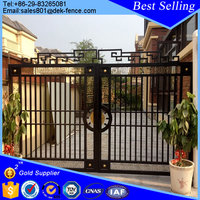 Retractable wrought iron main gate designs
