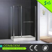 SAFE 2015 corner bath shower combo with high quality