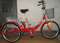 24inch Tricycle three alloy wheels 6SP Front V- Brake REAR Band Brake Adult Tricycle SY-TR2403