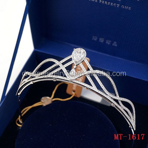 Stunning Luxury Cubic Zircon CZ tiara comb wedding hair bridal tiara headpiece