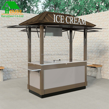Amusement park decoration project free design prefab houses ice cream portable prefab house