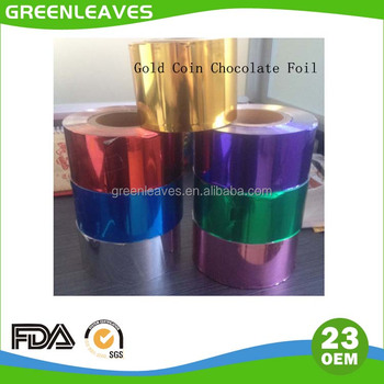 40 Micron Gold Coin Chocolate Foil Rolls