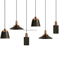 Black Metal Shade Restaurant Modern Hanging Light Fancy Pendant Light