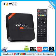G1 pro tv box Amlogic S905 3d Quad-Core 1G+8G Android 5.1 TV box with sim card