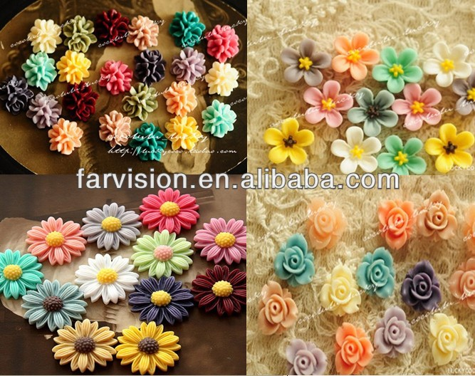 flat back Kawaii resin cabochon wholesale