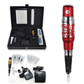 Deluxe Professional Permanent Makeup red tattoo Machine with dragon