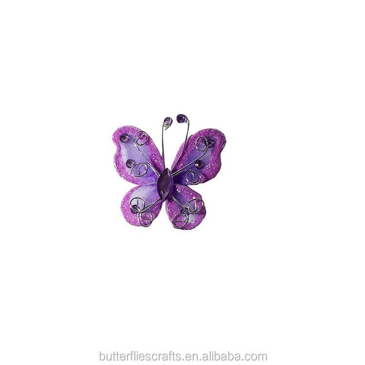 Purple Organza Butterfly for floral arrangement and wedding decorations