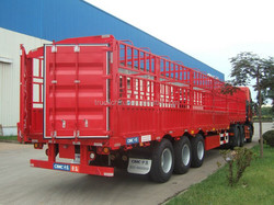 China factory made 3 Axle Semi trailer truck trailer for sale