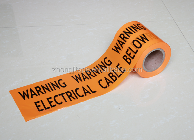 pe underground electrical cable warning tape