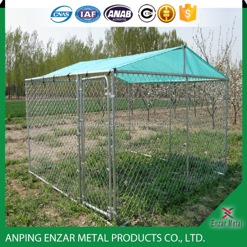 Large outdoor galvanized pet display cage/commercial dog cage