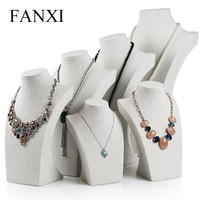 Buy black shiny resin necklace holder Mannequin jewelry display ...