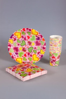 Kids birthday party supplies napkin/plate/cup/table cover