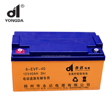 Long life gel solar dry cell storage battery 12V 40ah