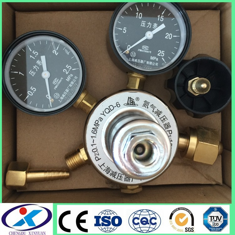 ISO Approved High Quality gas pressure regulator for N2