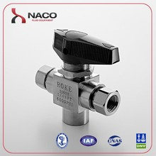 Stainless Steel 6000psi 3 way ball valve parker similar valve for cng dispenser