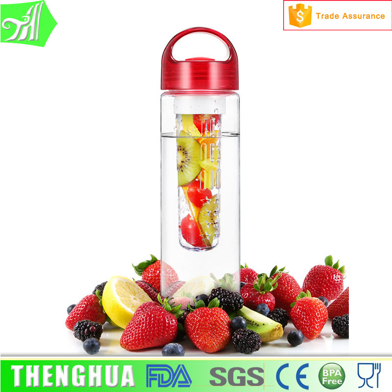 700ml Plastic Fruit Infuser Water Bottle Juice Making Machine
