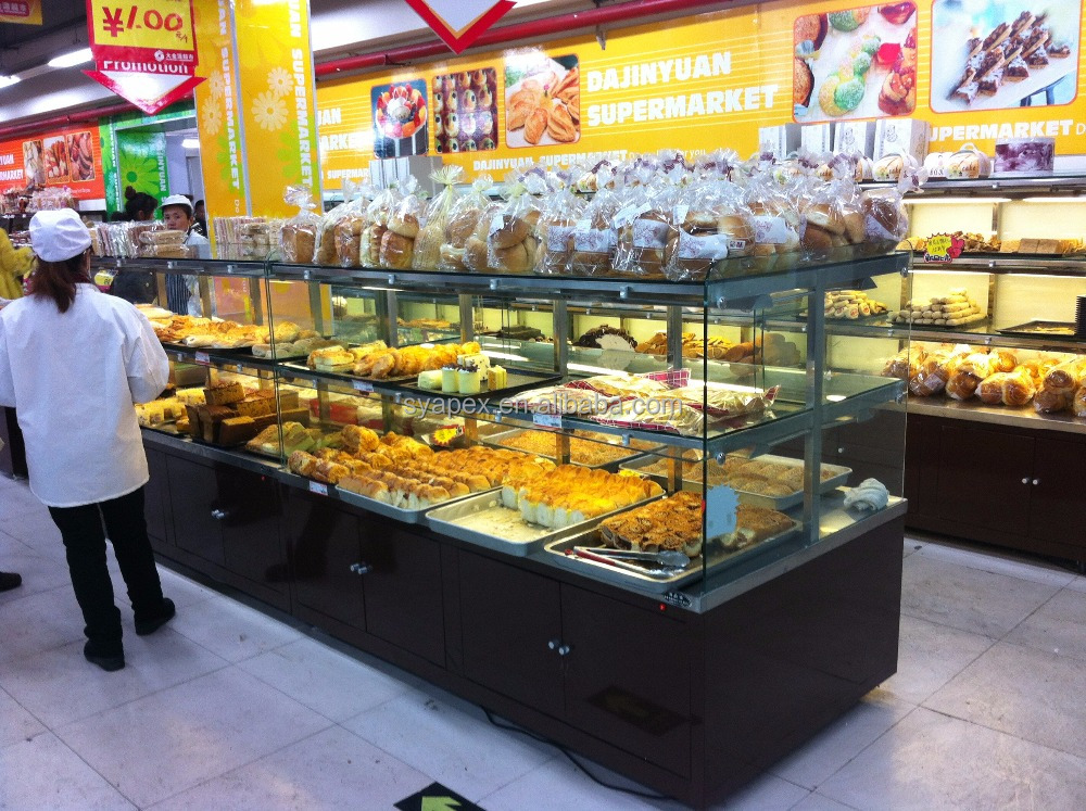 APEX custom make double sides pastry display case