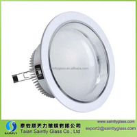 round glass covers for LED underground lamp with ISO9001 and CCC certification