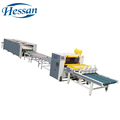 China Guangzhou factory production line aluminum material wrapping pvc profile laminating machine
