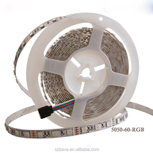 Free samples DC24V 5050 flexible waterproof remoted rgb led strip