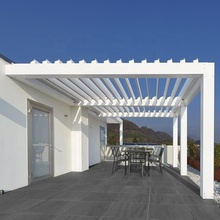 motorized outdoor garden awning folding louver aluminium pergola