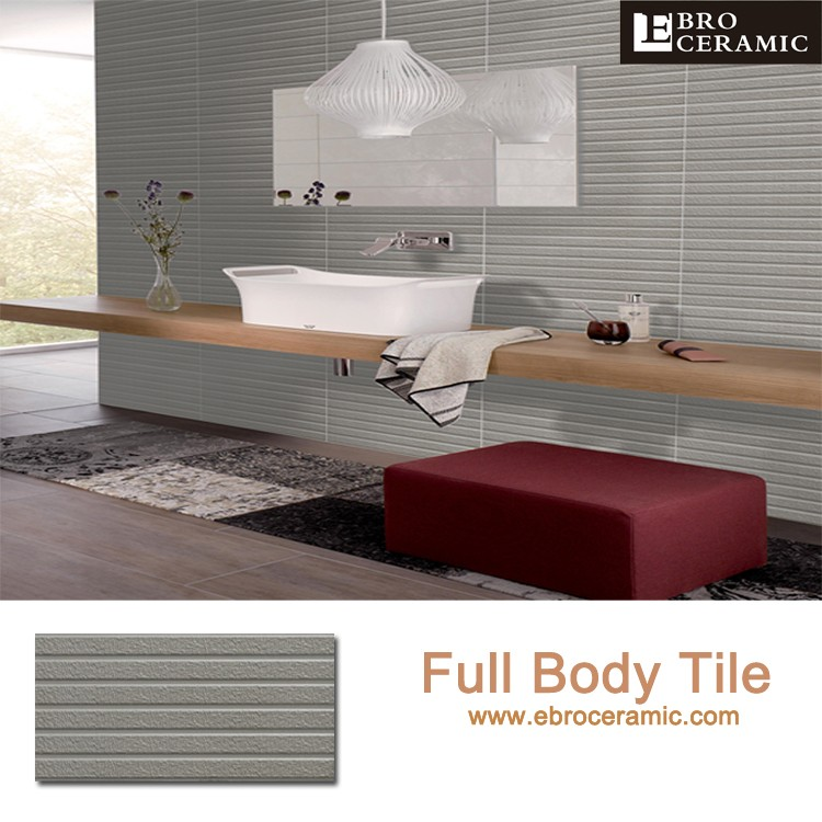 Popular 300x600 Full body decorative China ceramic bedroom wall tiles with pure colors ESO3374