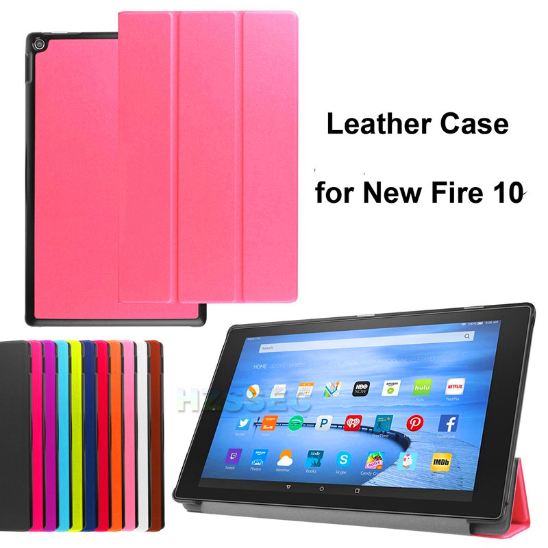High Quality TPU Soft Case Flip Cover For Amazon Kindle Fire HD 8 10 2015