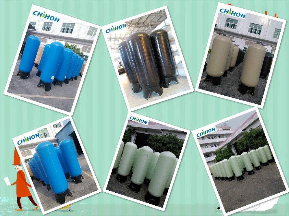 1054 2.5 inch top opeing small size with PE inner shell material frp tank