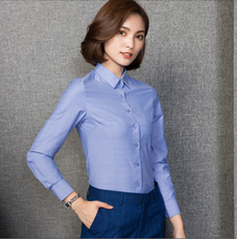 2018 Women Elegant Shirt cotton Blusas Femininas Tops Formal Office Shirt Blouse