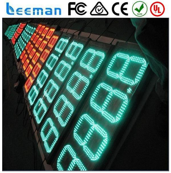 led gas price display/led gas station sign/led fuel price sign 16 inch 7 segment led display 5mm rgb led