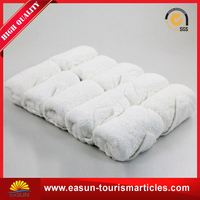 Cheap inflight tray hot towels for restaurants reusable airline towel