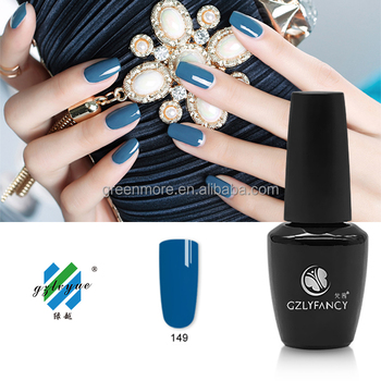 GZLYFANCY UV/LED gel nail polish in blue soak off nail gel China supplies