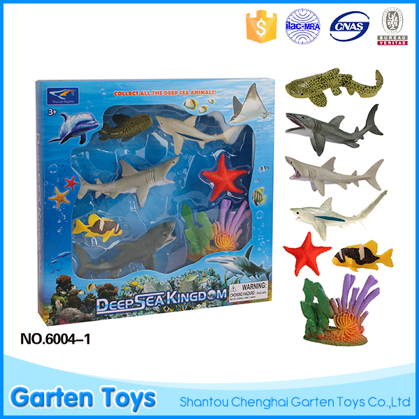 Manufacturer children educational deep sea fish animal model plastic toy