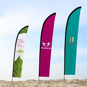 customized beach flag banner for advertising,teardrop flag,feather flag
