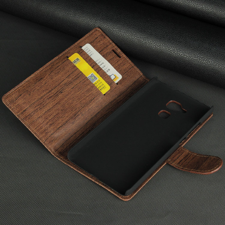 Wood grain pu case for huawei honor5C cell phones smartphones